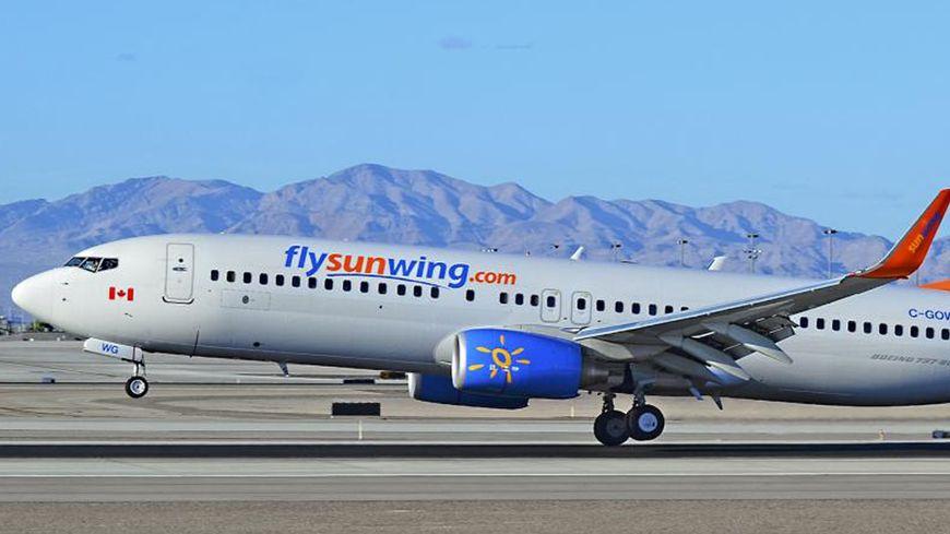 Un avion de la compagnie Sunwing Airlines