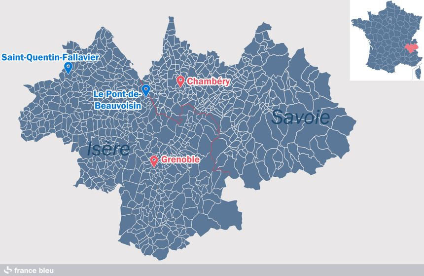 Le centre pénitentiaire de Saint-Quentin-Fallavier est situé dans le nord du département de l'Isère
