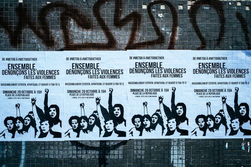 Affiches de la manifestation parisienne contre les violences sexistes et sexuelles