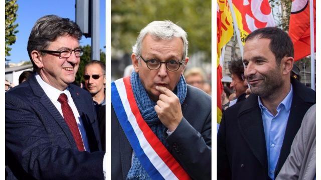 Jean-Luc Mélenchon, Pierre Laurent, Benoit Hamon.