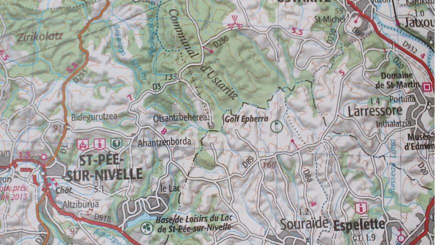 Le probable secteur du contre-la-montre Saint-Pée-sur-Nivelle - Espelette du Tour de France 2018