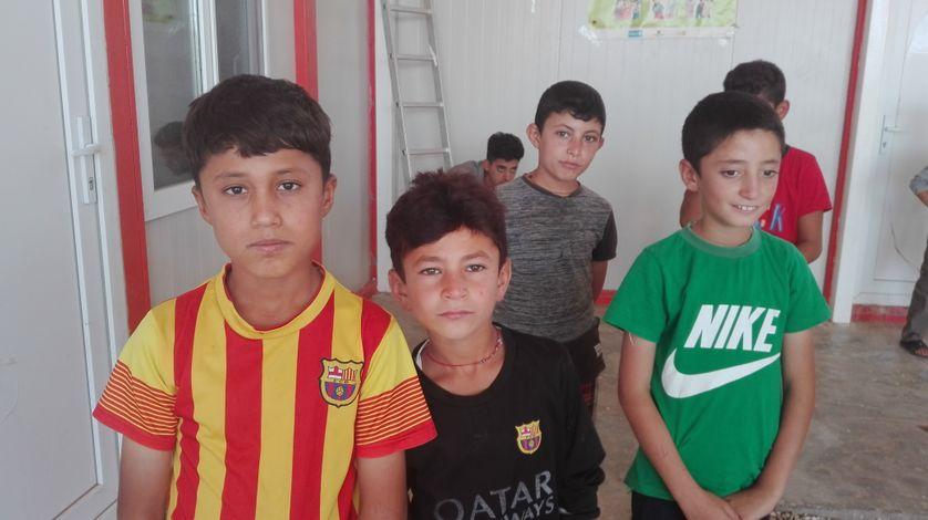 Des enfants yézidis rescapés de Daech, dans le camp de Darkara au Kurdistan irakien
