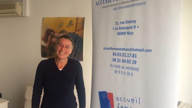 Florence Jambou responsable de l'association Accueil Femmes solidarité à Nice