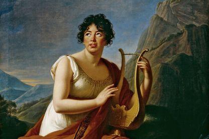 Portrait de Germaine de Staël par Élisabeth Vigée-Lebrun