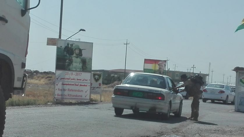 Un checkpoint dans le Kurdistan irakien