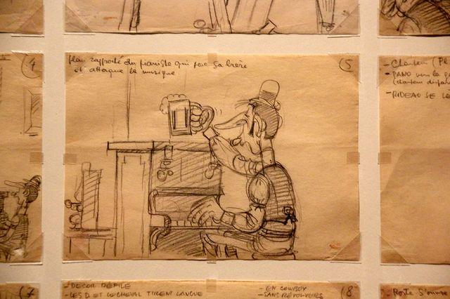 Extrait du story board de La Ballade des Dalton (1978) par les studios Idefix