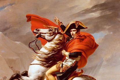 Napoléon franchissant le Grand-Saint-Bernard par Jacques-Louis David (1748-1825)