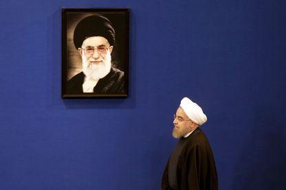 Le président iranien Hassan Rohani (Téhéran, janvier 2017)
