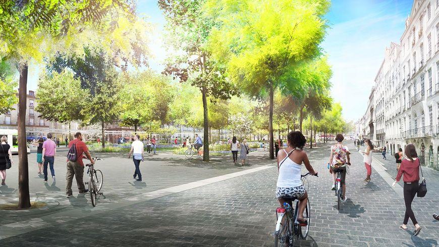 nantes un grand jardin va remplacer la gare routi re entre la place du commerce et l 39 le feydeau. Black Bedroom Furniture Sets. Home Design Ideas