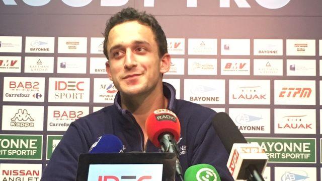 Julien Tisseron, arrière de l'Aviron Bayonnais Rugby