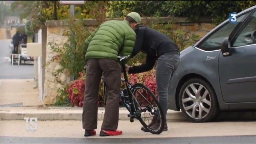 Le vélo a été contrôlé par l'agence de lutte contre le dopage.