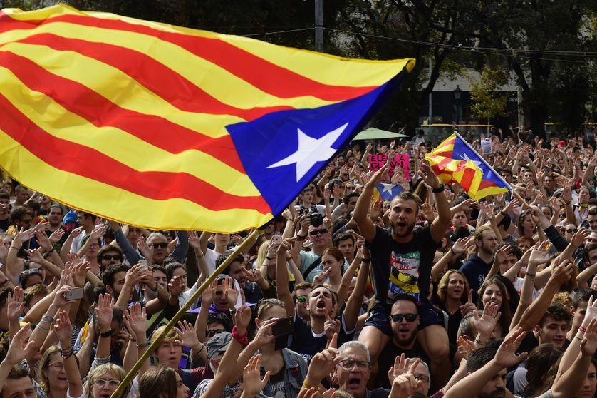 Manifestations d'indépendantistes catalans à Barcelone le 2 octobre 2017.