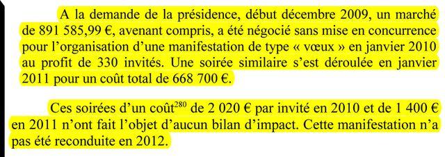 """Extrait du rapport de la Cour des comptes """"Les dépenses dispendieuses de communication de la SNCF"""""""