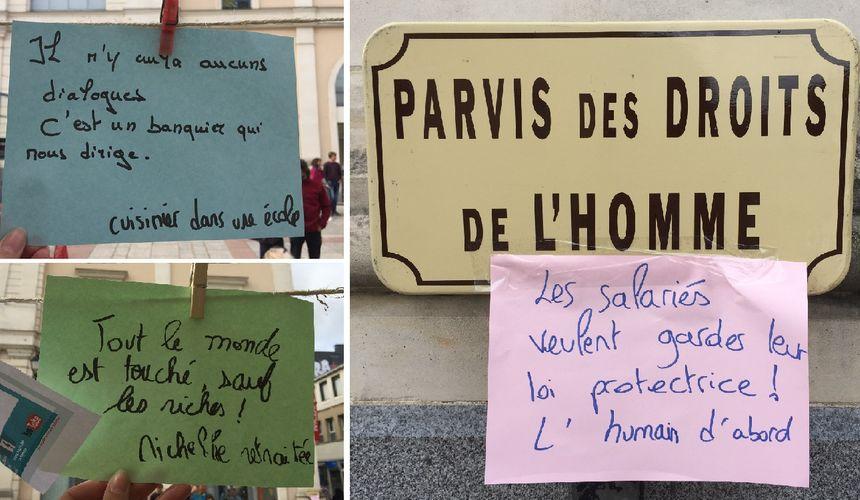 """Les revendications des Lavallois pendant la """"casserolade"""" de la France insoumise"""