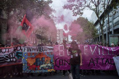 Manifestation contre les ordonnances de Macron à Paris mardi 10 octobre.