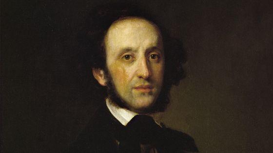 Portrait du compositeur Felix Mendelssohn-Bartholdy (1809 - 1847)