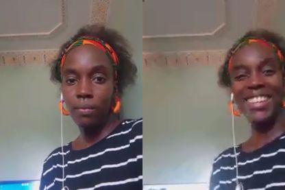 Houleye Kane, chez elle à Nouakchott  (photos via Skype)