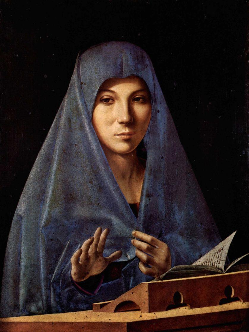 La Vierge de l'Annonciation d'Antonello de Messine de la Première Renaissance. Wikipédia