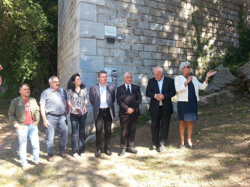 Les nouveaux repères de crues du bassin versant de l'Ardèche ont été inaugurés ce jeudi.