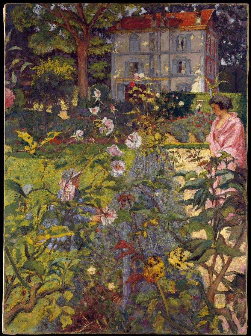 Le Jardin de Vaucresson (1920, retravaillé en 1926, 1935, 1936), exposé au Metropolitan Museum of Art à New York. Certaines scènes écrites par Proust évoquent les tableaux de Vuillard.