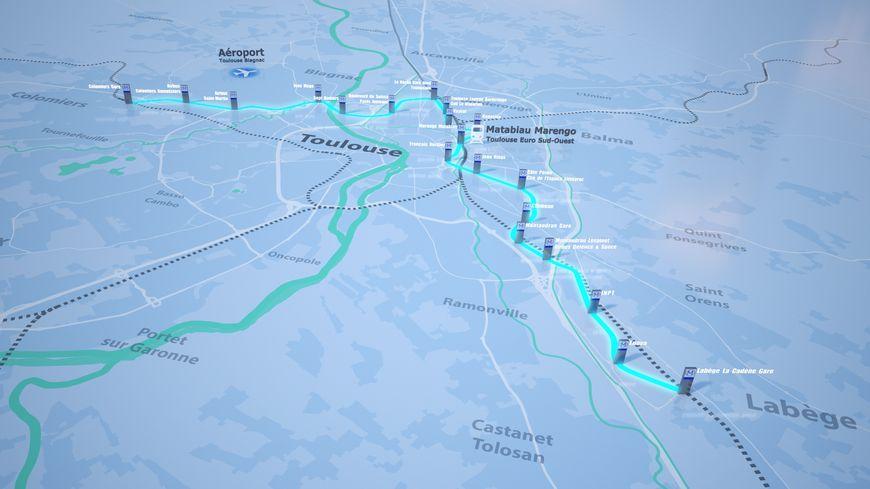 La ligne Toulouse Aérospace Express est estimée à 2,3 milliards d'euros par la métropole