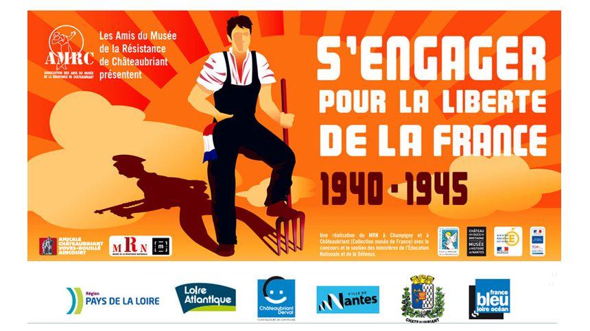 """Affiche expo """"S'engager pour la Liberté de la France"""""""