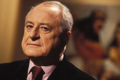 """Pierre Bergé le 30 août 1996 pendant l'émission """"Bouillon de culture""""."""