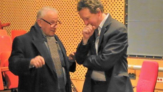 France Musique, studio 109... Philippe Bouvard & Benoît Duteurtre, février 2014.