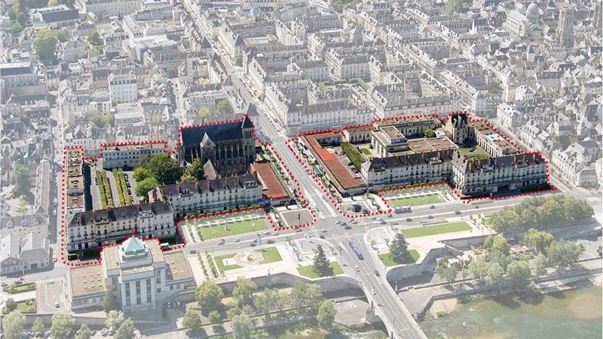 Place Anatole France à Tours