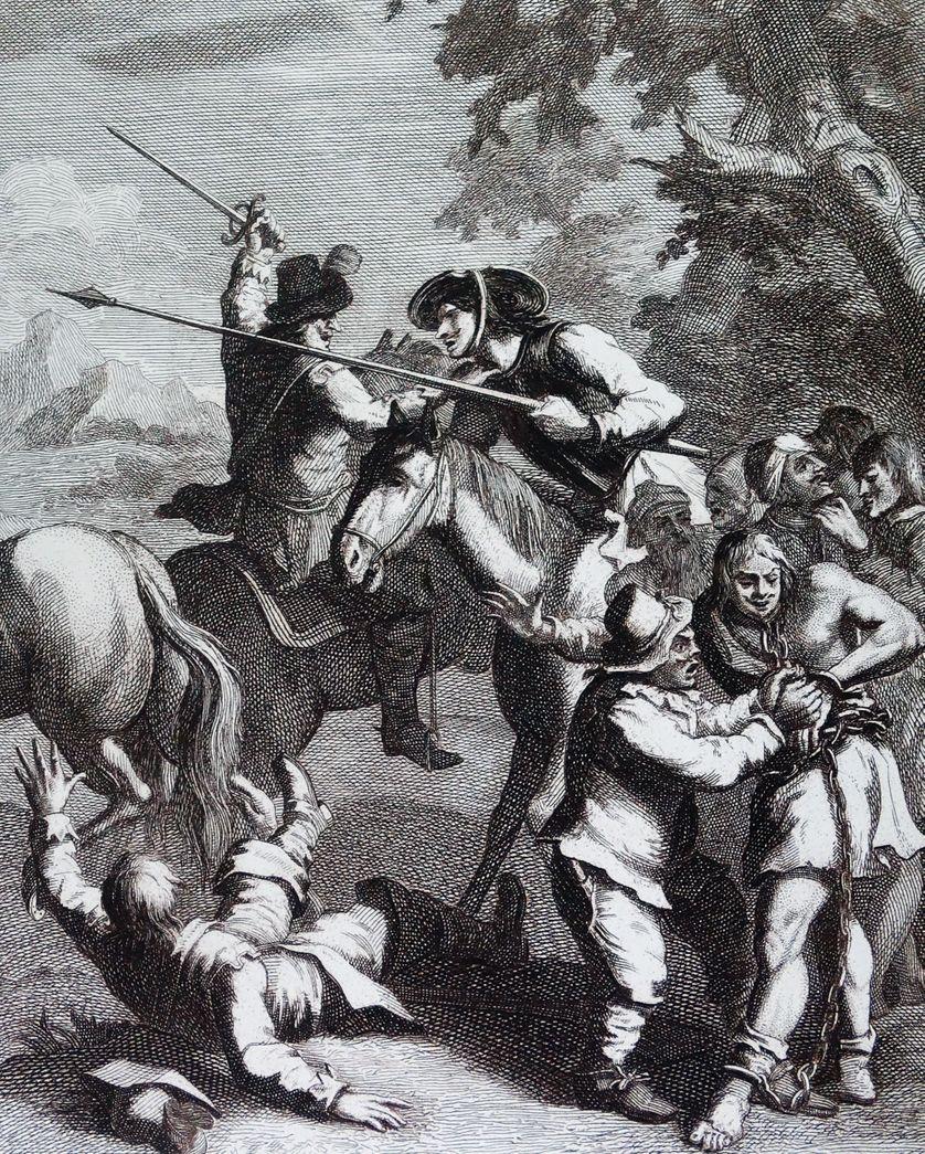 Don Quichotte libère les esclaves