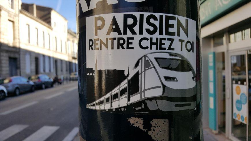 Un des rares autocollants retrouvés à Bordeaux