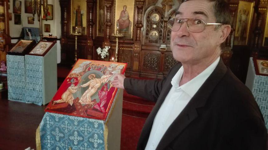 Serge Cheloudtchenko, marguillier de l'églises orthodoxe de Biarritz