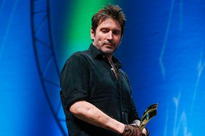 Le cinéaste et  reporter de guerre Olivier Sarbil le 7 octobre  2017 au Prix Bayeux-Calvados.