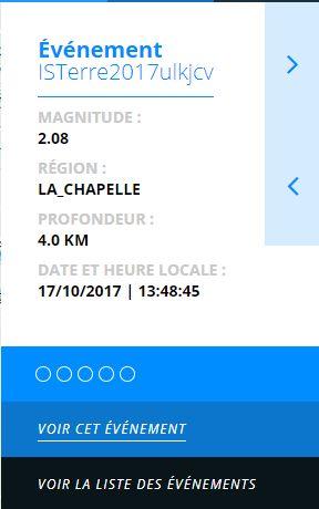 Tremblement de terre ce matin en Maurienne