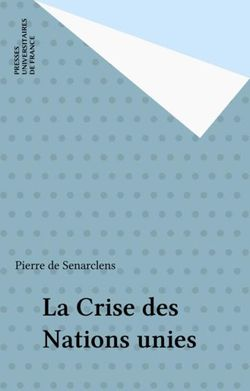 La crise des Nations Unies