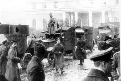 Gardes rouges pendant la révolution de 1917