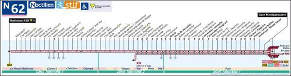 La ligne N44 est une ligne du sous réseau Noctilien qui relie la Gare de l'Est à Garges - Sarcelles - Aucun(e)