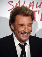 """Johnny Hallyday le 31 mars 2014 pour la sortie du film de Claude Lelouch """"Salaud, on t'aime"""""""