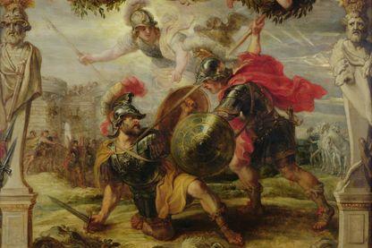 Achille défait Hector, peinture de Pierre-Paul Rubens, 1630 - 1632 - Musée des Beaux-Arts de Pau