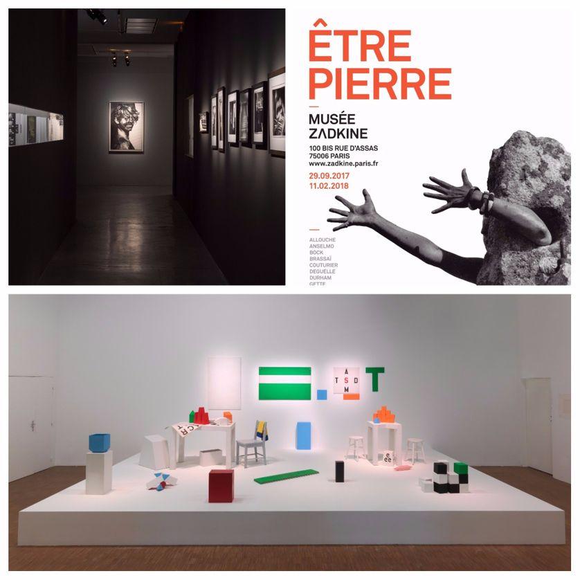 De gauche à droite : Collection Marin Karmitz ; Affiche Etre pierre ; Performance !