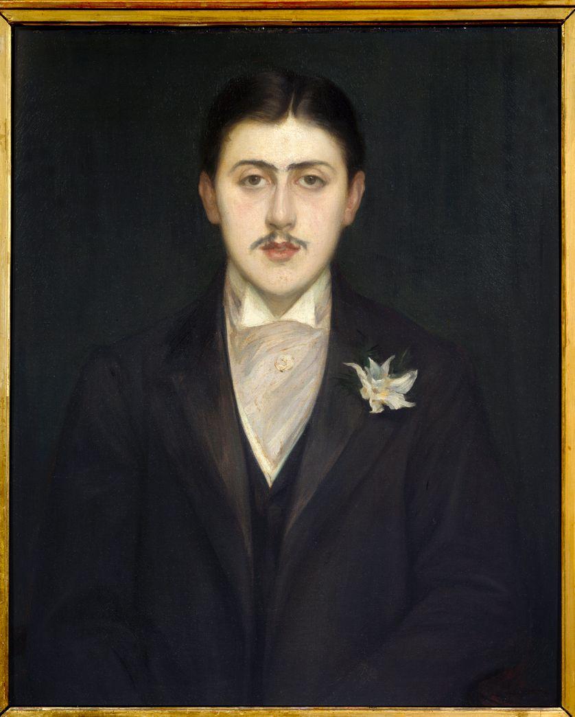 Portrait de Marcel Proust (1871-1922), écrivain français. Peinture de Jacques Emile (Jacques-Emile) Blanche (1861-1942). Paris, musée d'Orsay.