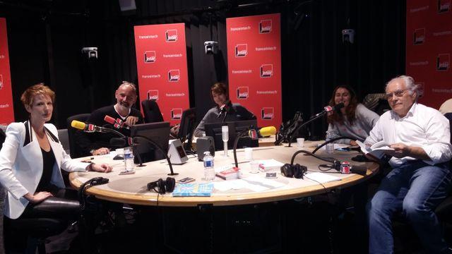 Vous les Femmes, de gauche à droite, Natacha Polony, Daniel Morin, Titiou Lecoq, Guillemette Odicino, Albert Algoud