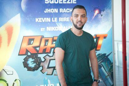 Jhon Rachid en  2016 à l'avant premiere du film Ratchet et Clank au MK2 Bibliotheque