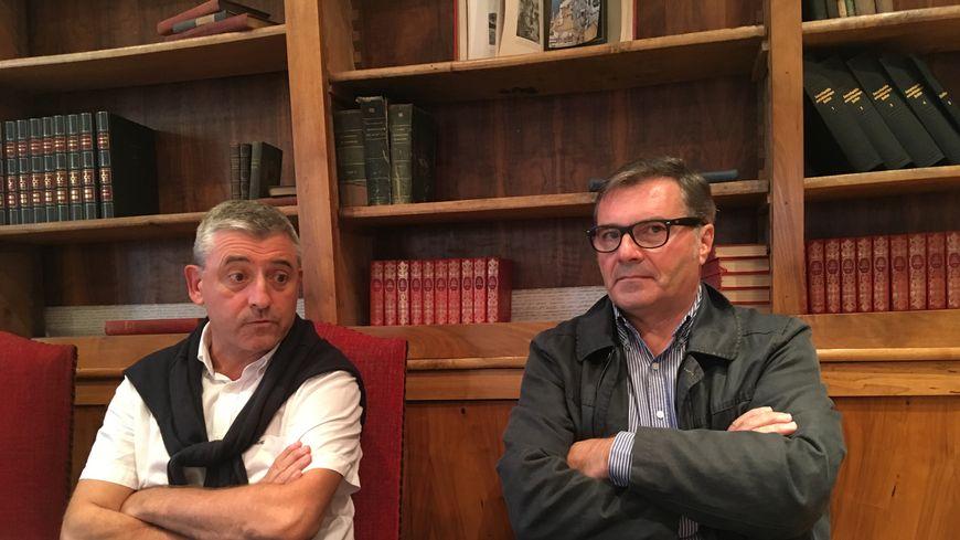 Hervé Lucbéreilh, le maire d'Oloron, et maître Philippe Herrmann
