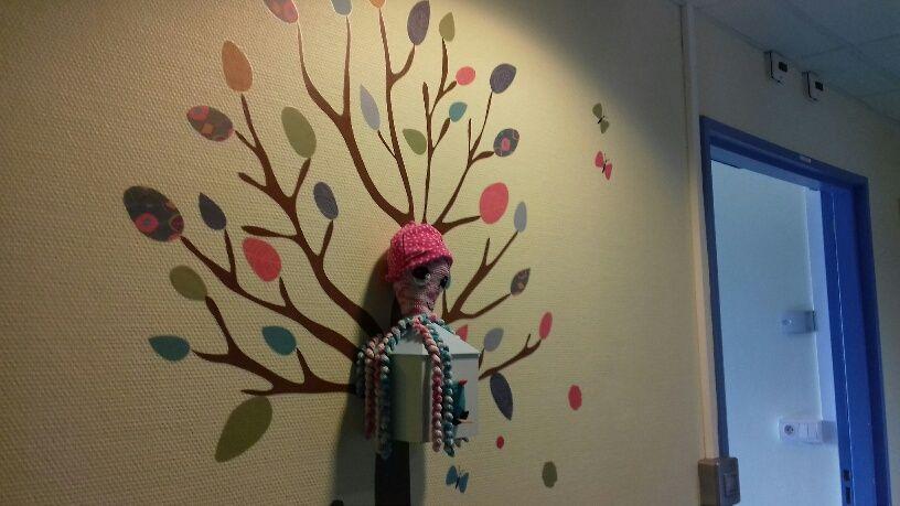 La pieuvre Calypso devenue la mascotte du service de néonatalogie du CH Laval