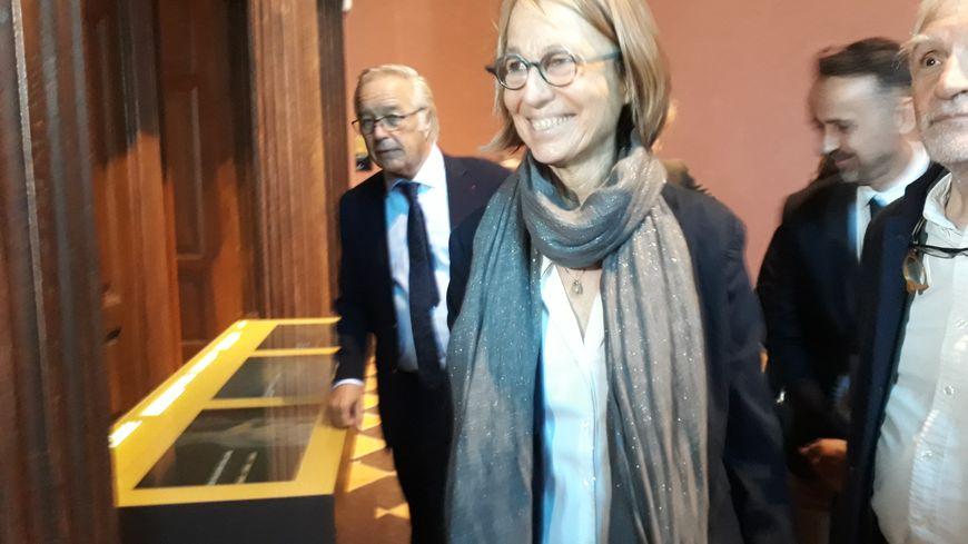 La ministre de la Culture Françoise Nyssen, ce vendredi matin lors de sa visite au Musée des Beaux-Arts de Dijon