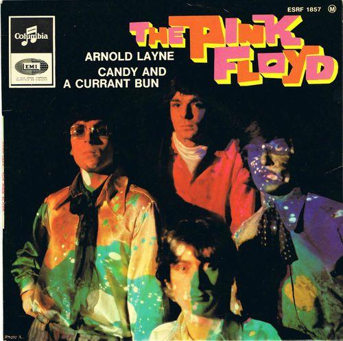 Pochette vinyle du premier single des Pink Floyd: Arnold Layne, 1967