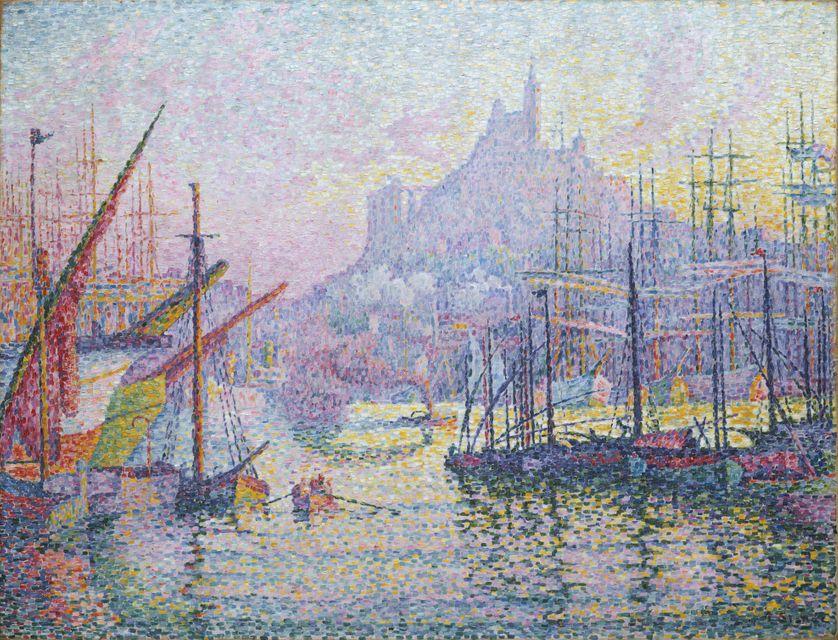 Vue du Port de Marseille (1905, exposé au Metropolitain Museum of Art, New York)