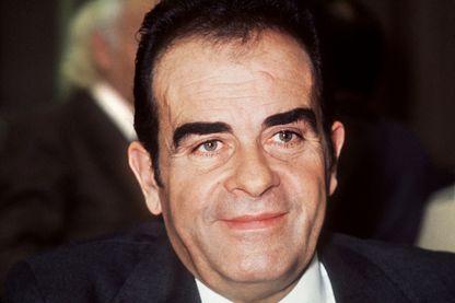 Photo du secrétaire général du parti communiste français Georges Marchais prise lors du vingtième congrès du PCF qui s'est tenu à Saint-Ouen du 13 au 17 décembre 1972