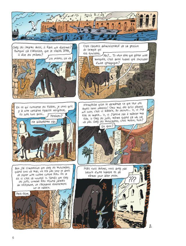"""Planche du """"Chat du rabbin"""", tome 7 : La Tour de Bab-el-Oued de Joann Sfar"""